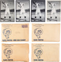 Football Cards:Sets, 1954 - 1957 Los Angeles Rams Tem Issue Photo Sets (4) Plus Extras....