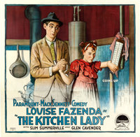"The Kitchen Lady (Paramount, 1918). Six Sheet (79"" X 80"")"