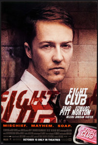 "Fight Club (20th Century Fox, 1999). One Sheets (2) (27"" X 40"") SS Advance Norton & Pitt Styles. Action..."