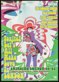 """Movie Posters:Documentary, Tonite! Let's All Make Love in London (Cable Hogue, 1995). First Release Japanese B2 (20.25"""" X 28.5""""). Documentary.. ..."""