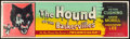 """Movie Posters:Mystery, The Hound of the Baskervilles (United Artists, 1959). Silk ScreenBanner (24"""" X 82""""). Mystery.. ..."""