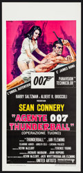 "Movie Posters:James Bond, Thunderball (United Artists, R-1970s). Italian Locandina (13"" X 27.5""). James Bond.. ..."
