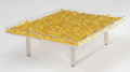 Post-War & Contemporary:Sculpture, Yves Klein (1928-1962). Table d'Or (Golden Table). 22 karatgold leaf, steel, glass, and Plexiglas. 14 x 49 x 39-1/4 inc...