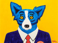 George Rodrigue (1944-2013) I Am Just a Regular Red-Blooded American, 1996 Acrylic on canvas 36 x