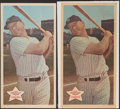 Baseball Cards:Singles (1960-1969), 1968 Topps Posters Mickey Mantle #18 Lot of 2....