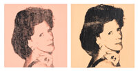 Andy Warhol (1928-1987) Caroline Law (Mrs. Theodore), 1975 Synthetic polymer paint and silkscreen in
