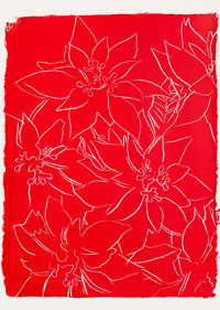 Andy Warhol (1928-1987) Poinsettias, circa 1983 Silkscreen on paper 31 x 22 inches (78.7 x 55.9 c