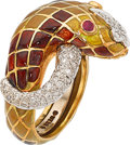 Estate Jewelry:Rings, Diamond, Enamel, Gold Ring, David Webb. ...