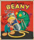 Original Comic Art:Covers, Bob Clampett's Beany Coloring Book Cover Original Art(Whitman, 1955)....