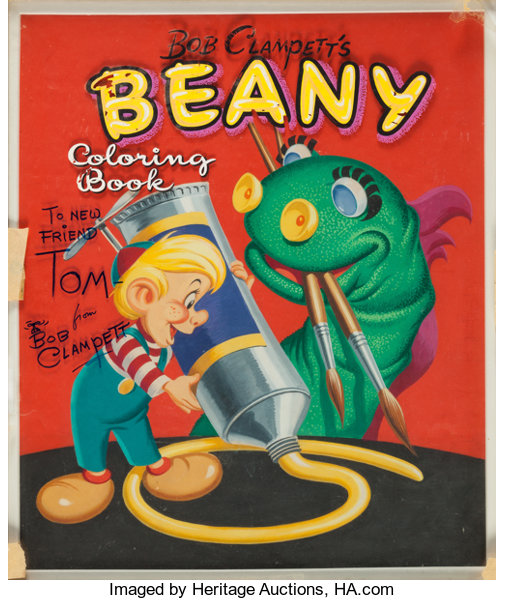 Bob Clampett\'s Beany Coloring Book Cover Original Art (Whitman ...