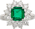 Estate Jewelry:Rings, Colombian Emerald, Diamond, Platinum Ring, Tiffany & Co.. ...