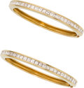 Estate Jewelry:Bracelets, Diamond, Gold Bracelets. ... (Total: 2 Items)