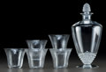 Art Glass:Lalique, Six-Piece R. Lalique Clear Glass Pavot and NipponPartial Service. Includes Nippon carafe and fi... (Total: 6Items)