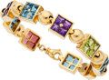 Estate Jewelry:Bracelets, Multi-Stone, Gold Bracelet, Carvin French. ...