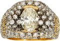 Estate Jewelry:Rings, Colored Diamond, Diamond, Gold Ring, Valente. . ...