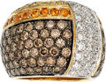 Estate Jewelry:Stick Pins and Hat Pins, Colored Diamond, Diamond, Citrine, Gold Ring. ...