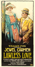 "Movie Posters:Western, Lawless Love (Fox, 1918). Three Sheet (42"" X 79.5"").. ..."