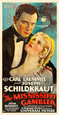 "Movie Posters:Drama, The Mississippi Gambler (Universal, 1929). Three Sheet (41"" X879.5"").. ..."