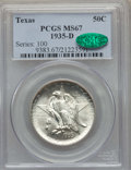 Commemorative Silver, 1935-D 50C Texas MS67 PCGS. CAC. PCGS Population: (269/11). NGC Census: (167/13). CDN: $350 Whsle. Bid for problem-free NGC...