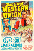 """Movie Posters:Western, Western Union (20th Century Fox, 1941). One Sheet (27"""" X 41"""") Style A.. ..."""