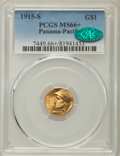 Commemorative Gold, 1915-S G$1 Panama-Pacific Gold Dollar MS66+ PCGS. CAC....