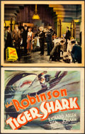 "Movie Posters:Drama, Tiger Shark and Other Lot (First National, 1932). Title Lobby Card(11"" X 14"") and Lobby Card (11"" X 14"").. ... (Total: 2 Items)"