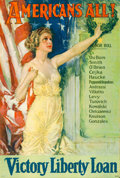 "Movie Posters:War, World War I Propaganda (U.S Government Printing Office, 1919).Liberty Loan Poster (27"" X 40"") ""Americans All,"" Howard Chand..."