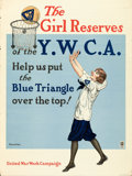 "Movie Posters:War, World War I Propaganda (Y.M.C.A., 1918). United War Work CampaignPoster (21"" X 27.75"") ""The Girl Reserves,"" Edward Poucher ..."