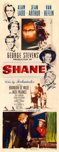 "Movie Posters:Western, Shane (Paramount, 1953). Insert (14"" X 36"") Ercole Brini Artwork.. ..."