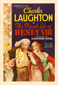 """The Private Life of Henry VIII (United Artists, 1933). One Sheet (28"""" X 41"""")"""