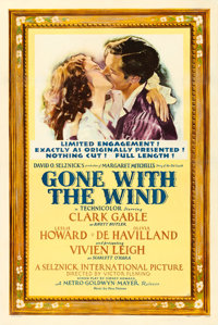 """Gone with the Wind (MGM, 1940). One Sheet (27.5"""" X 41"""") Style DF, Armando Seguso Artwork"""