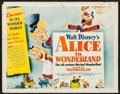 """Movie Posters:Animation, Alice in Wonderland (RKO, 1951). Half Sheet (22"""" X 28"""") Style A.Animation.. ..."""