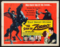 "Movie Posters:Adventure, The Sign of Zorro (Buena Vista, 1960). Half Sheet (22"" X 28"").Adventure.. ..."
