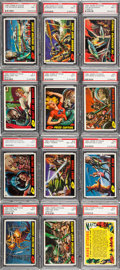Non-Sport Cards:Sets, 1962 Topps Mars Attacks Complete Set (55) - Every Card Graded PSANM 7. ...