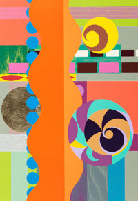 Beatriz Milhazes (b. 1960) Piquenique (Picnic), 2010 Woodblock and screenprint in colors on Saunder