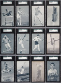 """Olympic Cards:General, 1949 Exhibits """"Sports Champions"""" SGC Graded Partial Set (17/32)...."""