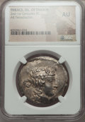 Ancients:Greek, Ancients: THRACIAN ISLANDS. Thasos. Ca. 168-148 BC. AR tetradrachm.NGC AU....