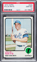 Baseball Cards:Singles (1970-Now), 1973 Topps Willie Mays #305 PSA Gem Mint 10 - Pop Two! ...