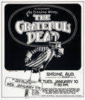 Memorabilia:Poster, Grateful Dead Shrine Auditorium Concert Poster (Bill Graham,1977)....