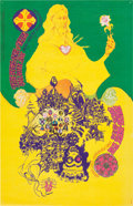 Memorabilia:Poster, The Fugs/All Men Joy Avalon Ballroom Concert Poster (Family Dog,1968)....