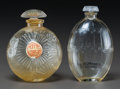 Art Glass:Lalique, Two R. Lalique Clear Glass Perfumes. Chypre by D'Orsay &Le Temps des Lilas by Houbigant. Circa 1927. MoldedLALIQUE... (Total: 2 Items)