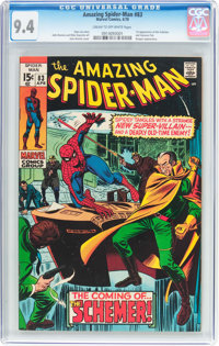 The Amazing Spider-Man #83 (Marvel, 1970) CGC NM 9.4 Cream to off-white pages