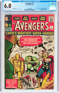 The Avengers #1 (Marvel, 1963) CGC FN 6.0 Cream to off-white pages