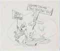 "Animation Art:Concept Art, Scooby Doo ""Yes to Women's Lib"" Original Concept Art (Hanna Barbera, c. 1970s)...."
