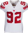 Football Collectibles:Uniforms, 2005 Michael Strahan Game Worn New York Giants Jersey - With 5 Team Repairs!...