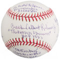 Baseball Collectibles:Balls, Brooks Robinson Single Signed Baseball PSA Mint+ 9.5. ...