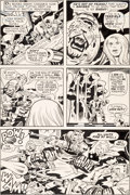Original Comic Art:Panel Pages, Jack Kirby and D. Bruce Berry Kamandi, the Last Boy on Earth#31 Story Page 15 Original Art (DC, 1975)....