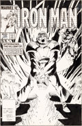 Original Comic Art:Covers, Luke McDonnell and Steve Mitchell Iron Man #186 CoverOriginal Art (Marvel, 1984)....