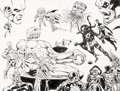 Original Comic Art:Splash Pages, Jim Starlin and Al Milgrom Marvel Universe: The End #4Double Splash Page 21-22 Original Art (Marvel, 2003)....