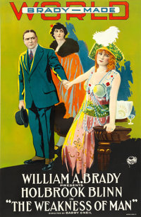 """The Weakness of Man (World Film Corporation, 1916). One Sheet (26"""" X 40.5"""")"""
